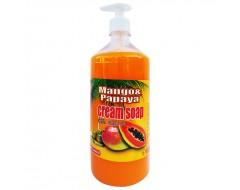 Sapun lichid cremos Mango & Papaya pompita 1 L