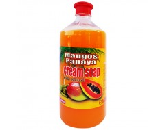 Sapun lichid cremos Mango & Papaya rezerva 1 L