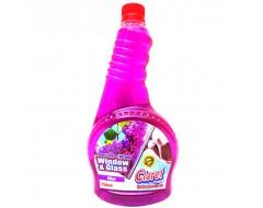 Detergent pentru geam Liliac 0.75 L rezerva